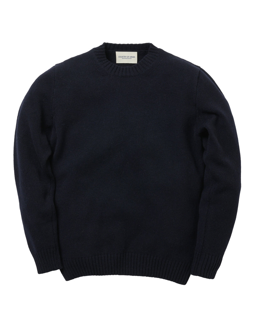 Staple Lambswool Crew • Navy