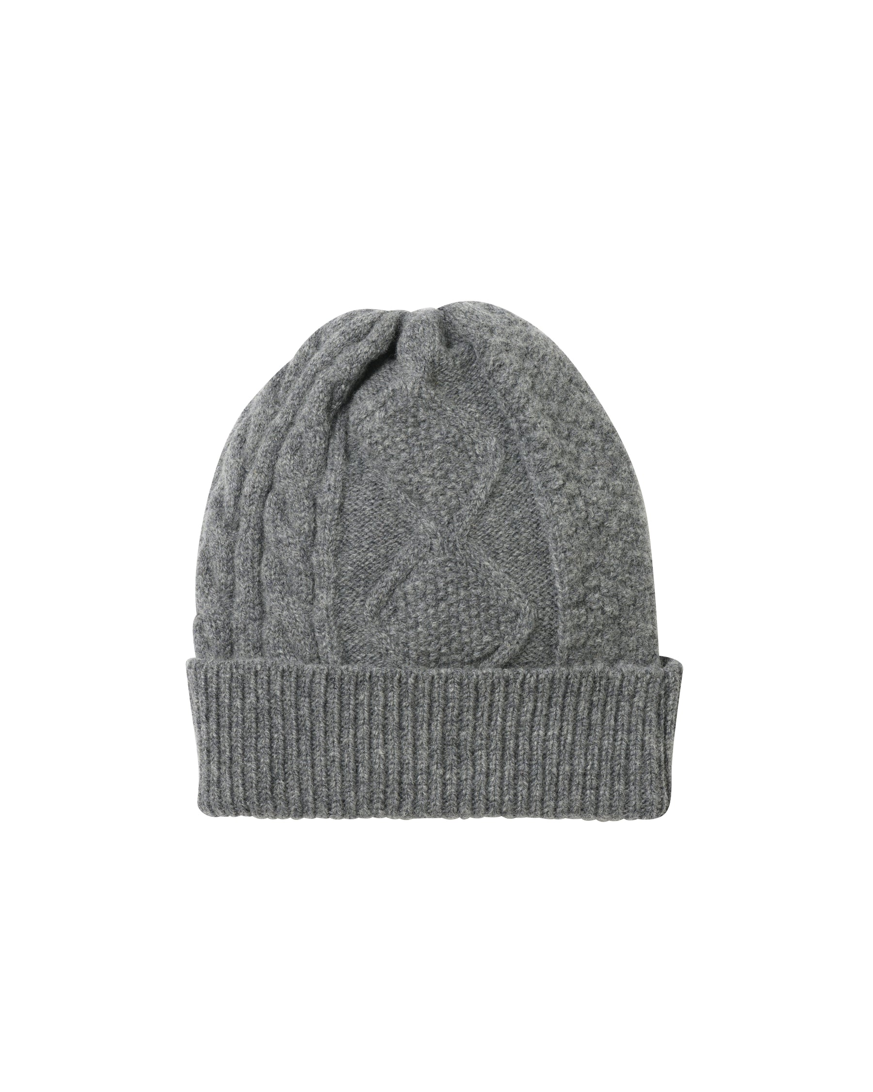 Bergdorf Goodman x C.O.O • Cableknit Watch Cap • Light Grey