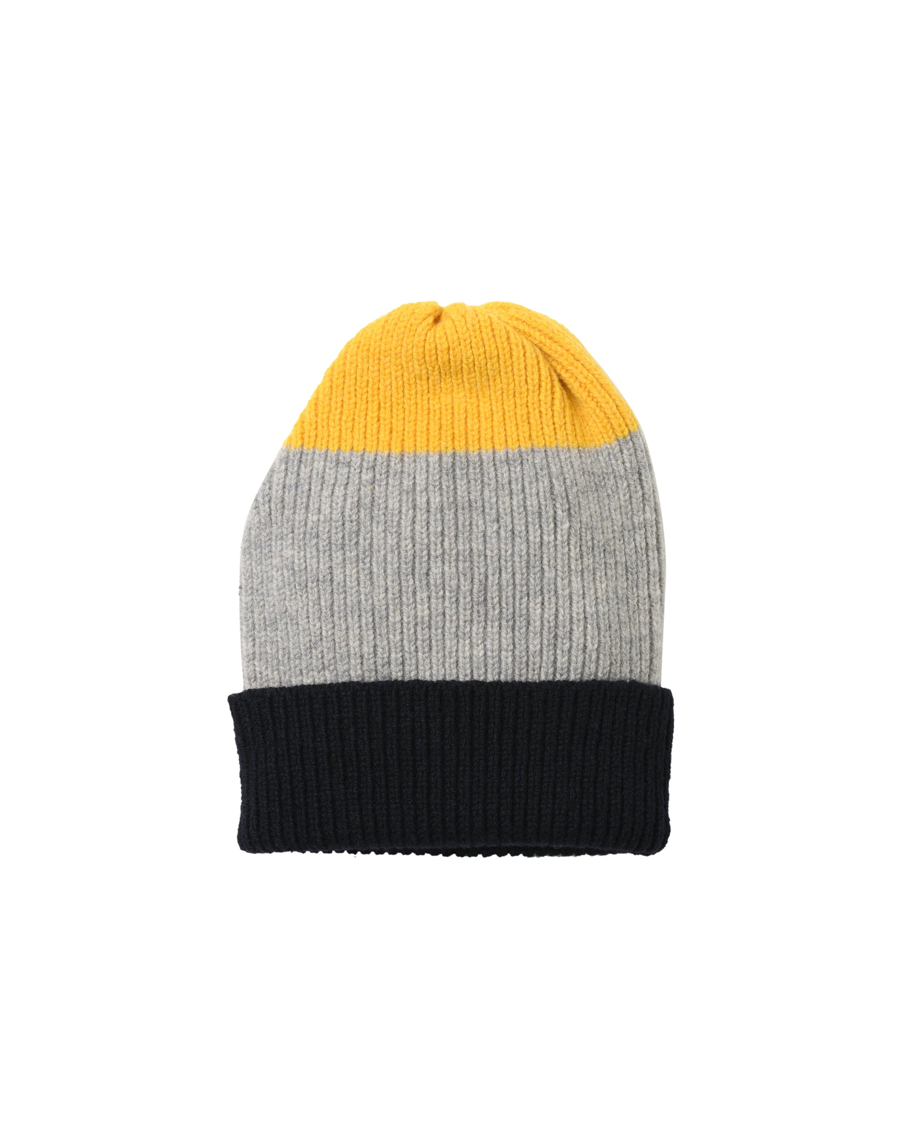 Tri-Stripe Lambswool Hat • Yellow