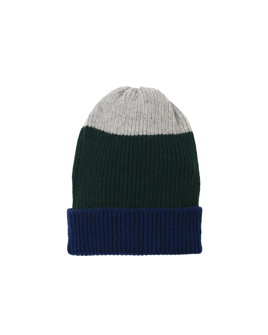 Tri-Stripe Lambswool Hat • Green