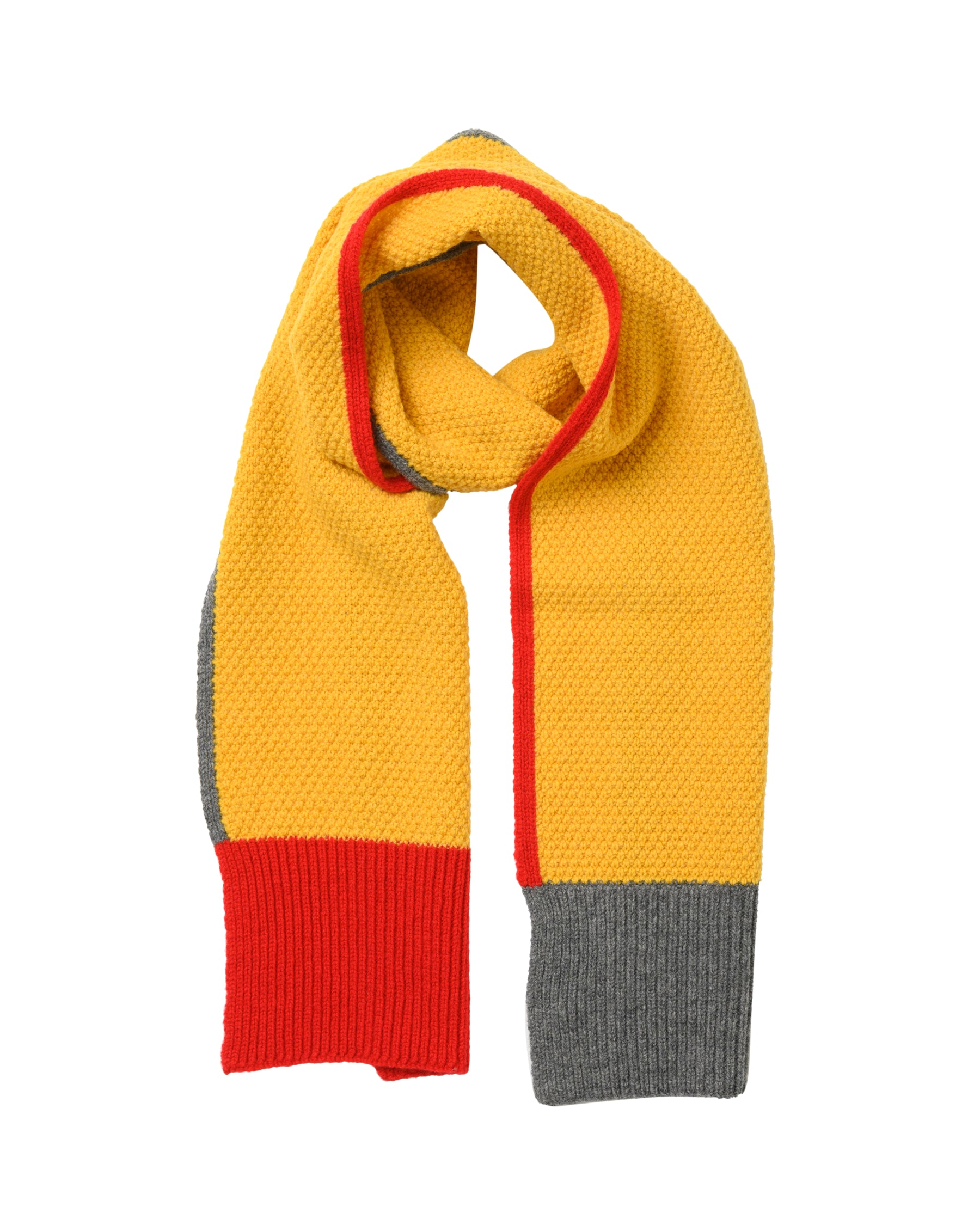 Honeycomb Lambswool Scarf • Yellow