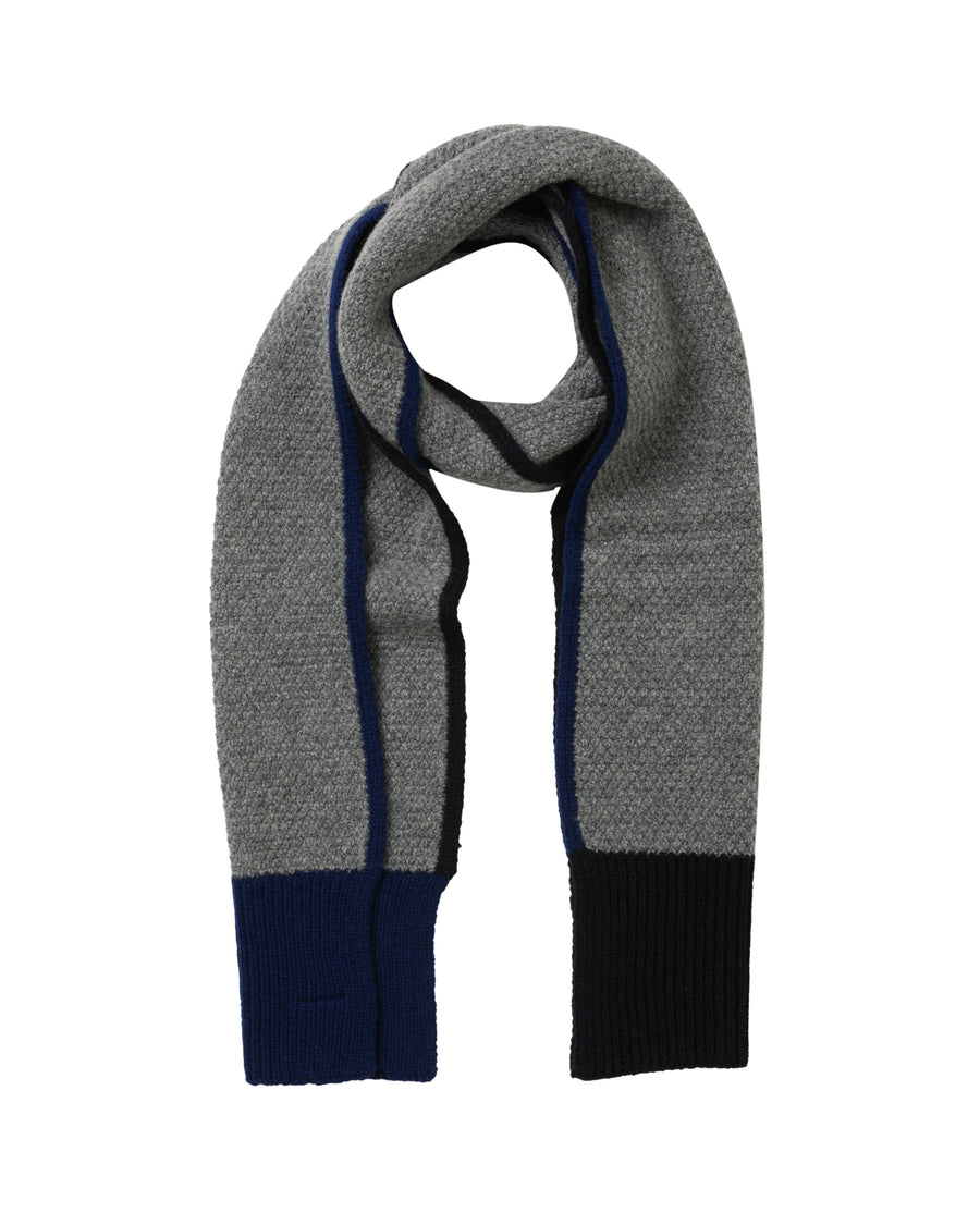 Honeycomb Lambswool Scarf • Grey