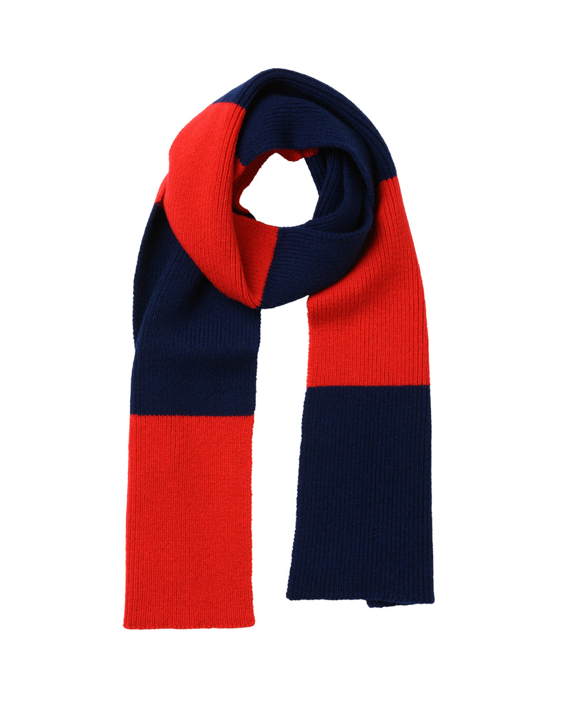 Striped Lambswool Scarf • Red