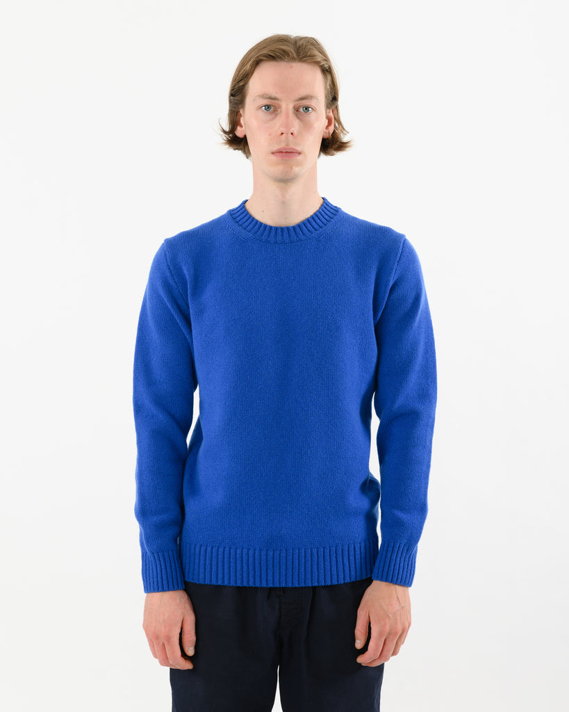 Staple Lambswool Crew • Blue