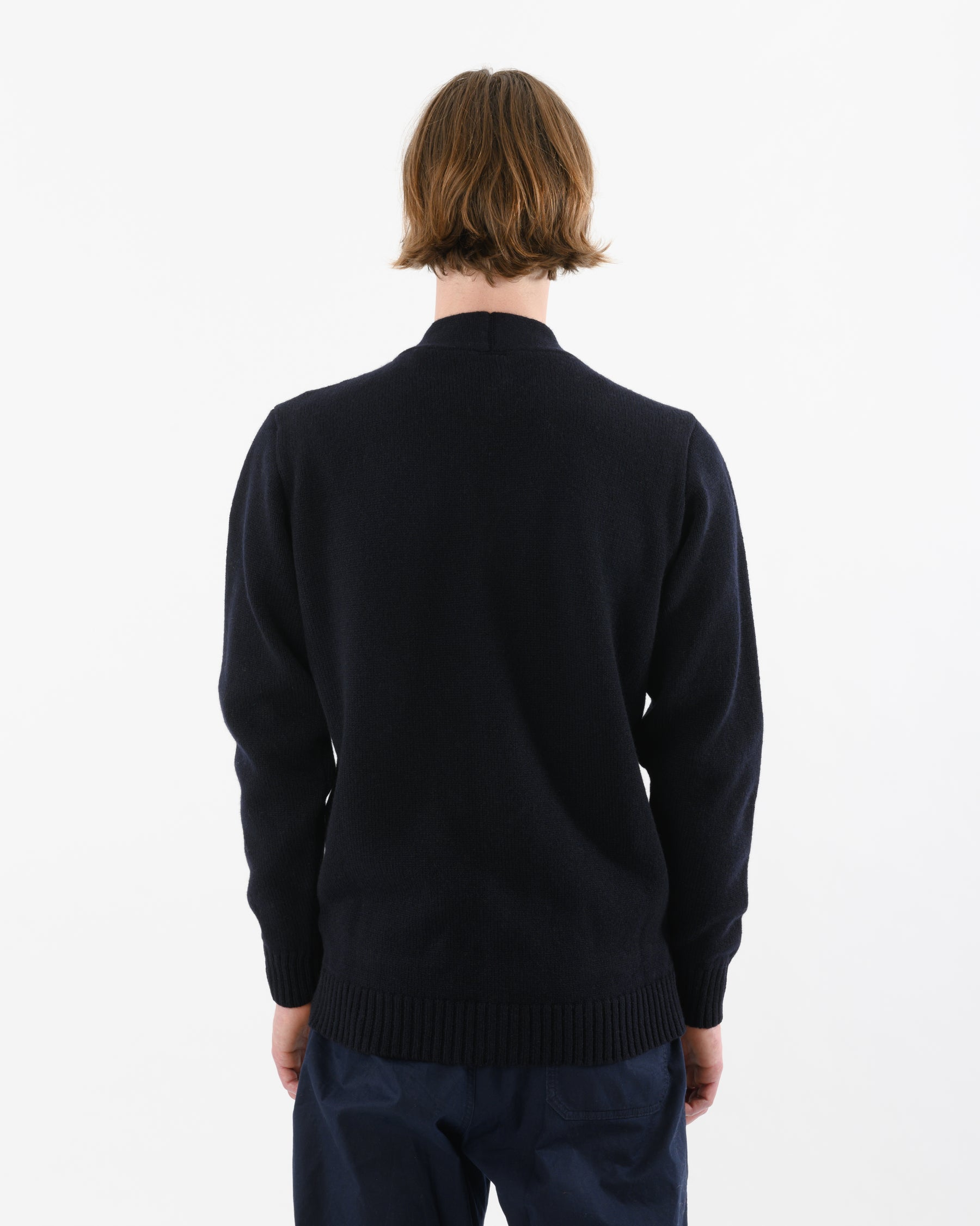 Cardigan Lambswool • Navy