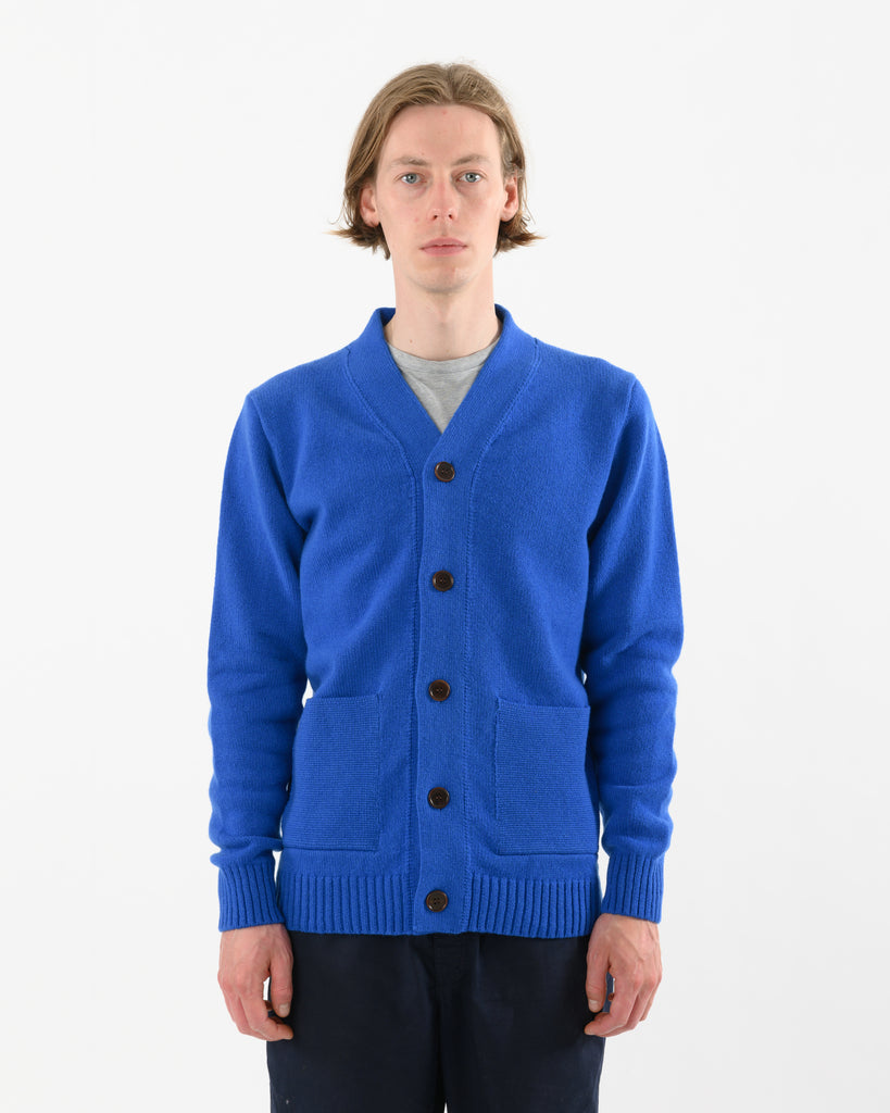 Cardigan Lambswool • Blue