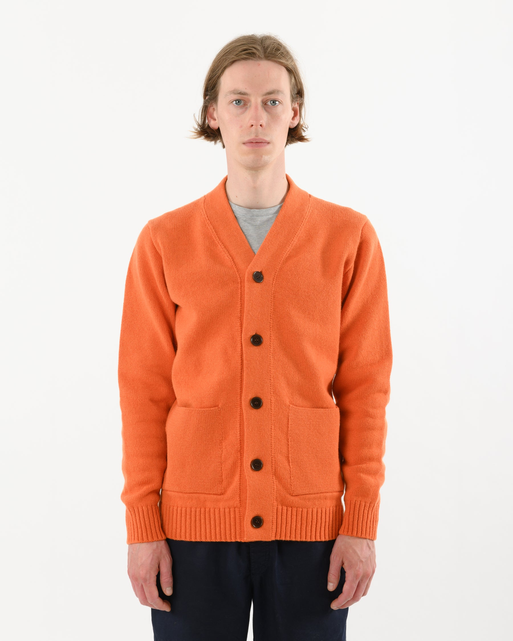 Cardigan Lambswool • Orange