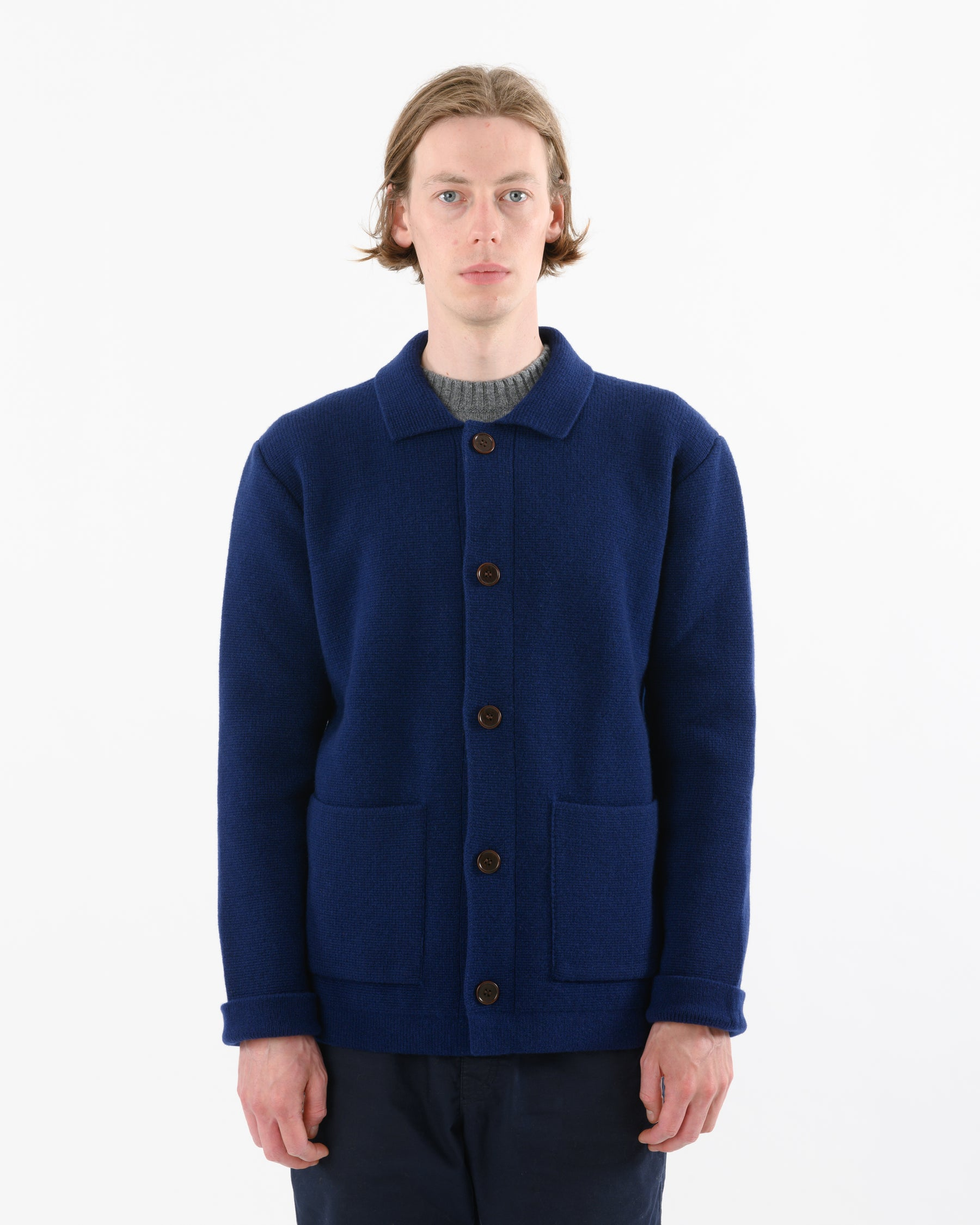 Chore Jacket Lambswool • Light Navy