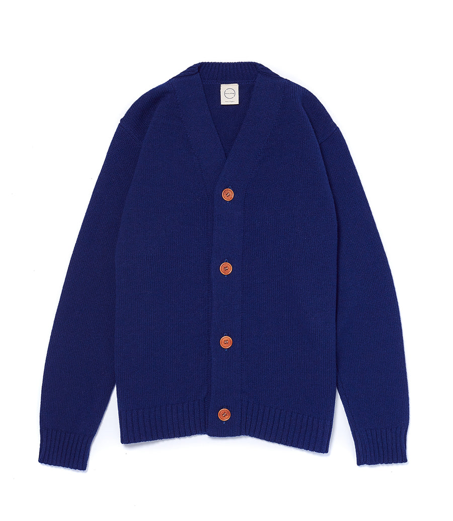 Navy Cardigan 2 Ply