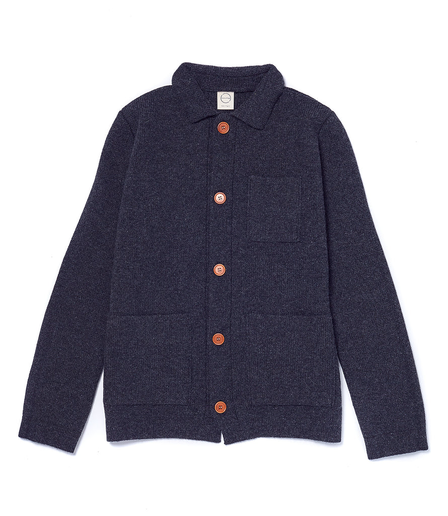 Charcoal Knitted Chore Jacket