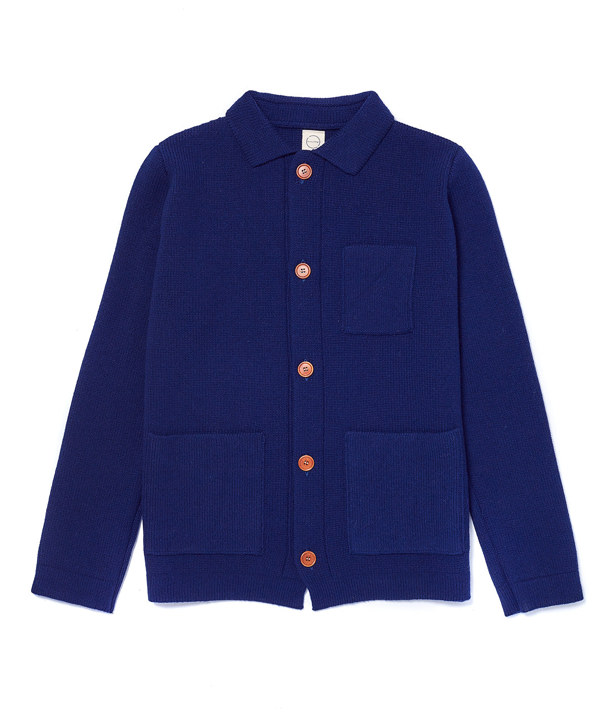 Navy Knitted Chore Jacket