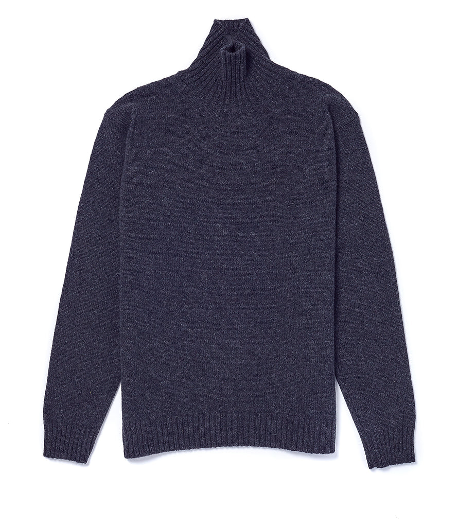 Staple Lambswool Funnel neck • Charcoal