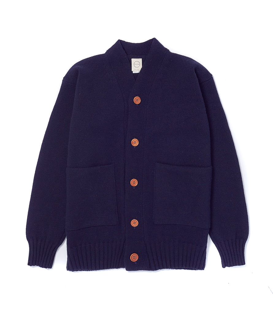 Dark Navy Cardigan 3 Ply