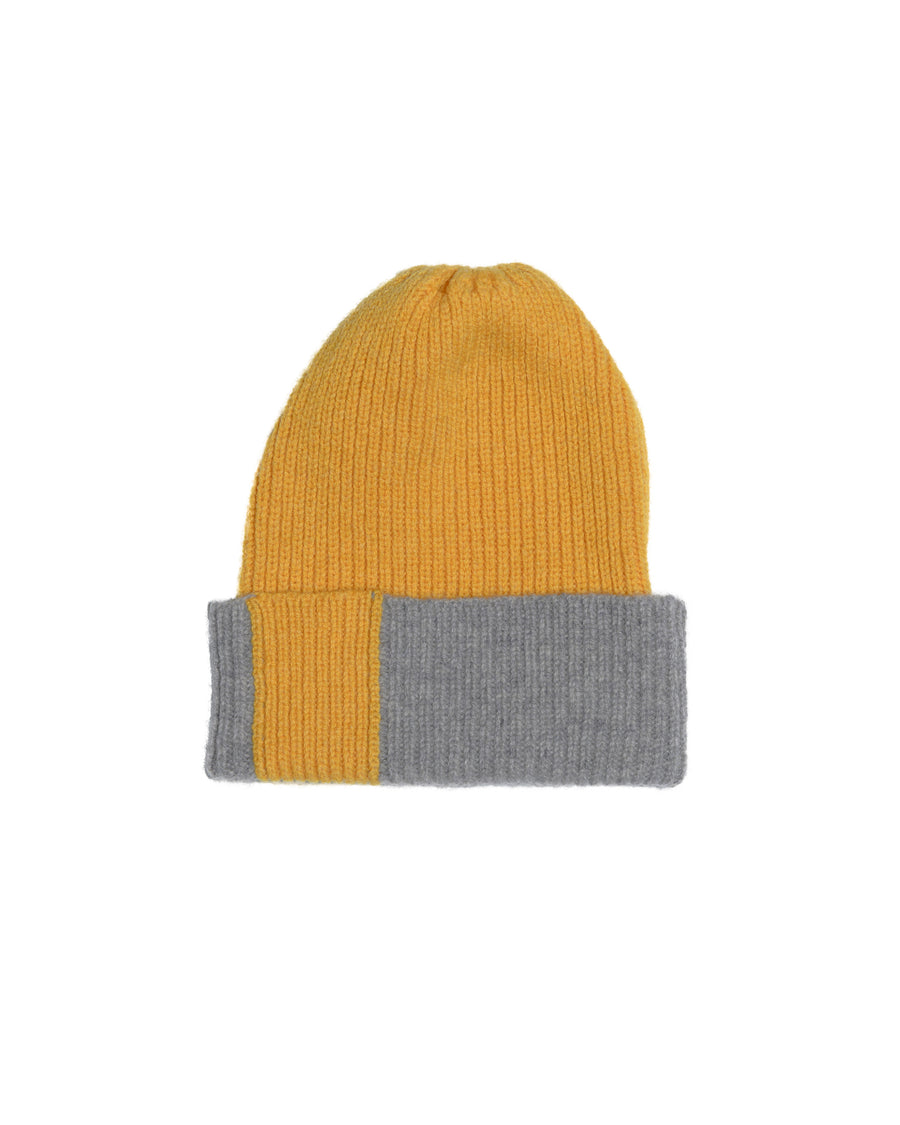 PATCH LAMBSWOOL HAT • YELLOW