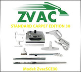 ZVac Standard Carpet Edition 30 - Central vacuum attachment kit for homes wit...