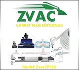 ZVac Carpet Plus Edition 35 - 35ft hose central vacuum cleaner attachment kit...