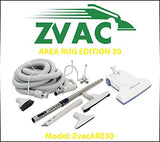 Zvac Area Rug Edition 30 - 30ft hose central vacuum cleaner attachment kit fo...