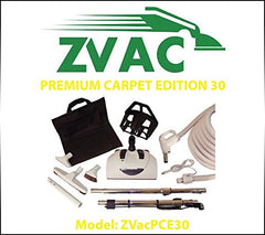 ZVac Premium Carpet Edition 30 - 30ft hose central vacuum cleaner attachment ...