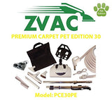 ZVac Premium Carpet Pet Edition 30 - 30ft hose central vacuum cleaner attachm...