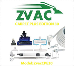 ZVac Carpet Plus Edition 30 - 30ft hose central vacuum cleaner attachment kit...