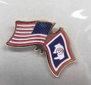 Wyoming/USA Flag Pin