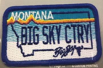Montana License Plate Patch