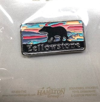 Grizzly Sunset Pin