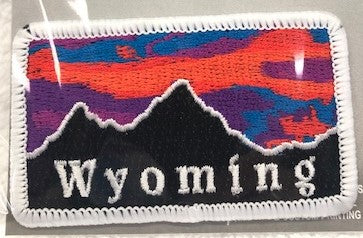 WY Mountains Sunset Patch