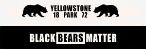 BLACK BEARS MATTER WRISTBAND