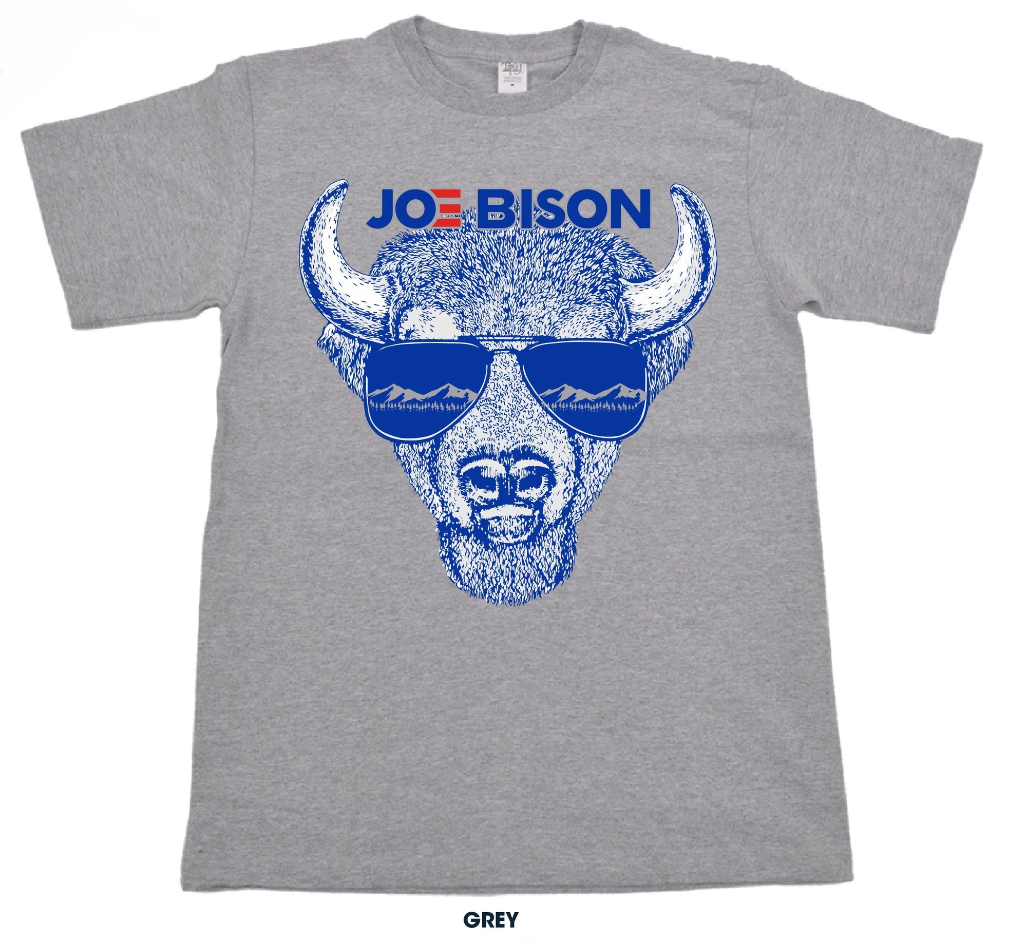 Joe Bison Grey T-Shirt