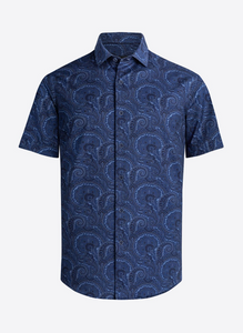BUGATCHI OOOH COTTON SHORT SLEEVE SHIRT