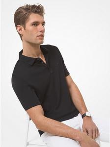 MICHAEL KORS POLO SHIRT SHORT SLEEVE BLACK