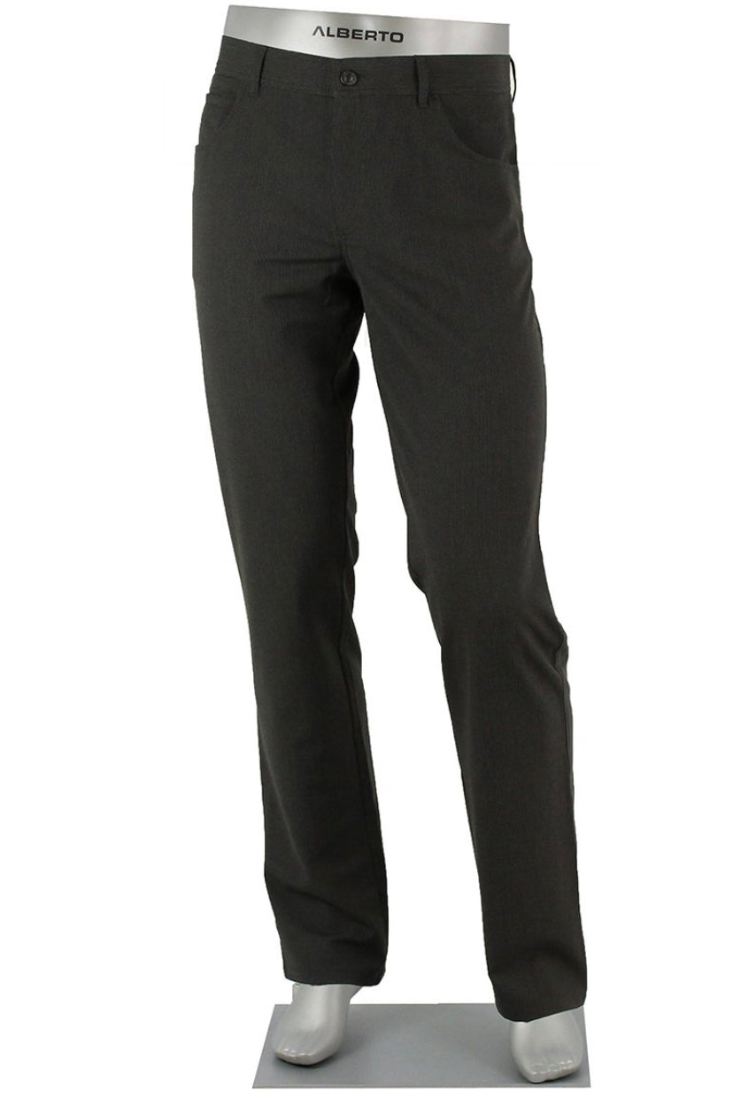 ALBERTO 5 POCKET CERAMICA PANT FINE STRIPE MODERN FIT BLACK