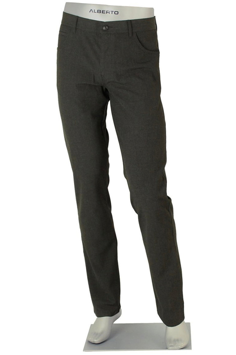 ALBERTO 5 POCKET CERAMICA PANT SLIM FIT CHARCOAL