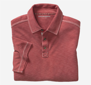 JOHNSTON & MURPHY POLO SHIRT RED