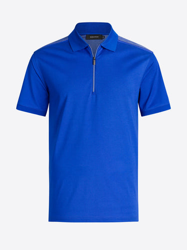 BUGATCHI SHORT SLEEVE ZIP POLO - Caswell's Fine Menswear