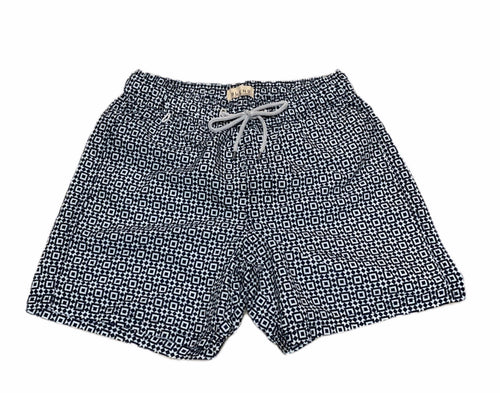 BLEND PATTERN SWIM TRUNK - Caswell's Fine Menswear