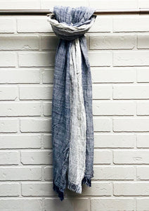 LIGHT SCARF NAVY - Caswell's Fine Menswear