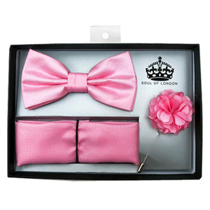 SOUL OF LONDON BOW TIE SET PINK