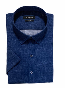 BUGATCHI SHIRT SHAPED FIT SHORT SLEEVE - Caswell's Fine Menswear