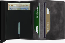 Load image into Gallery viewer, SECRID SLIMWALLET VINTAGE GREY BLACK - Caswell's Fine Menswear