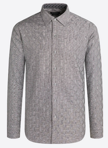 BUGATCHI SHIRT CLASSIC FIT LONG SLEEVE