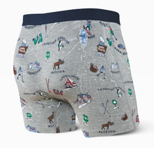 Load image into Gallery viewer, SAXX VIBE BOXER BRIEF GREY MOUNTAIN HIGH