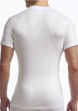 Load image into Gallery viewer, STANFIELDS SUPREME UNDERSHIRT CREW NECK 2 PACK WHITE