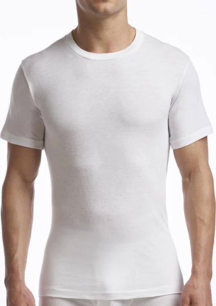 STANFIELDS SUPREME UNDERSHIRT CREW NECK 2 PACK WHITE