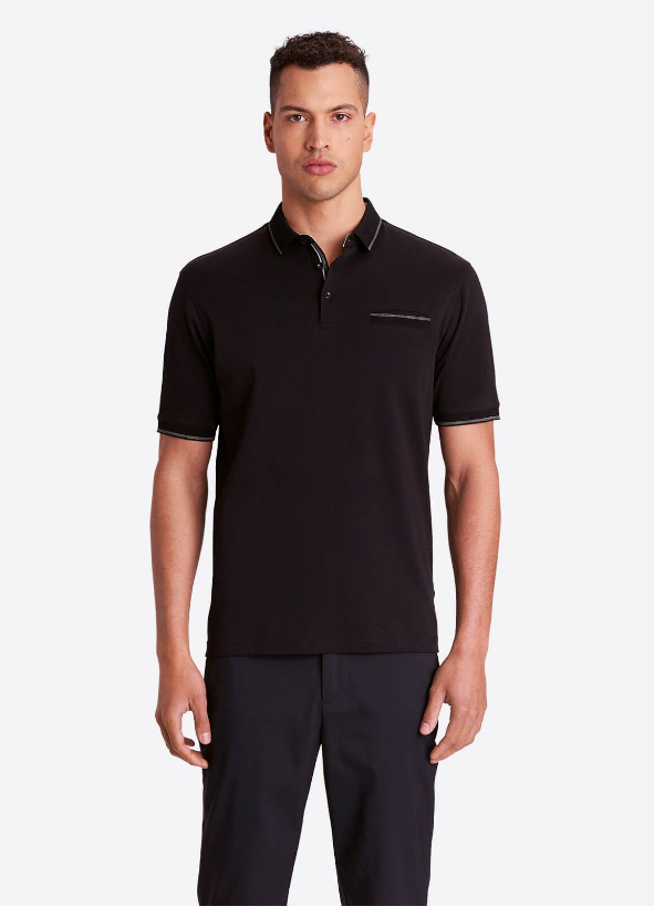 BUGATCHI POLO SHIRT SHORT SLEEVE