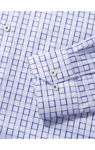 BUGATCHI SHIRT SHAPED FIT LONG SLEEVE CHALK - Caswell's Fine Menswear