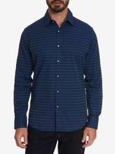 Load image into Gallery viewer, ROBERT GRAHAM SHIRT CUBIST NAVY