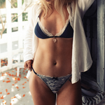 The Hanna Bralette - Navy/Ivory - Valerie Lane