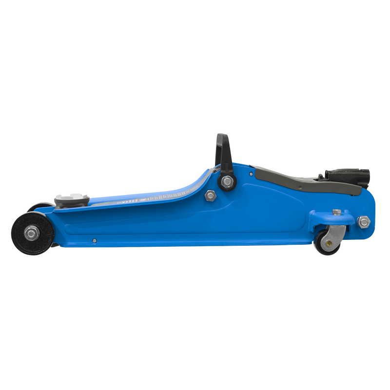 Trolley Jack 2tonne Low Entry Short Chassis - Blue